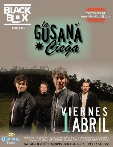 La Gusana Ciega En The Black Box De Tijuana Baja California Mx - rock en espa�ol - rockeros.net