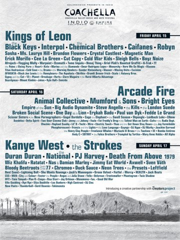 Coachella Music Festival 2011 Neon Trees Kanye West Indio Cali - rock en espa�ol - rockeros.net