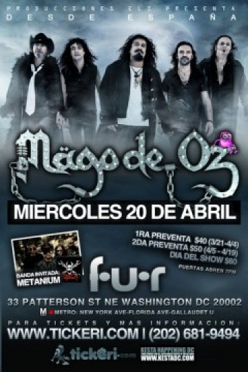Mago De Oz Y Metanium En El Fur Night Club De Washington Dc - rock en espa�ol - rockeros.net
