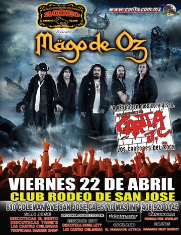 Mago De Oz El El Club Rodeo Nightclub De San Jose Ca - rock en espa�ol - rockeros.net