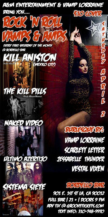 Rock N Roll Vamps And Amps Kill Aniston The Kill Pills Naked Video Bordello Bar - rock en espa�ol - rockeros.net
