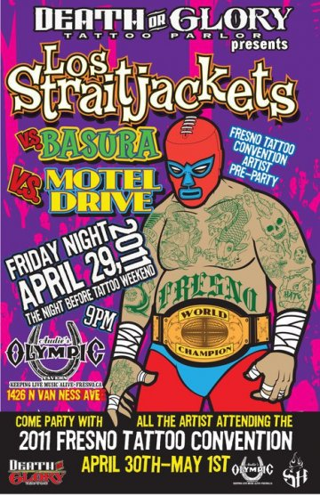 Fresno Tatto Convention Pre Party Los Strait Jackets Basura Motel Drive - rock en espa�ol - rockeros.net
