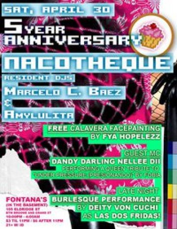 Nacotheque 5th Year Aniversary Marcelo Amylulita Fontanas New York Ny - rock en espa�ol - rockeros.net
