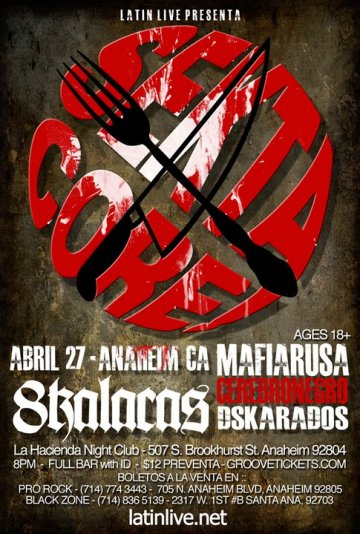 Sekta Core 8 Kalacas Mafia Rusa Cerebro Negro La Hacienda Night Club Anaheim Ca - rock en espa�ol - rockeros.net