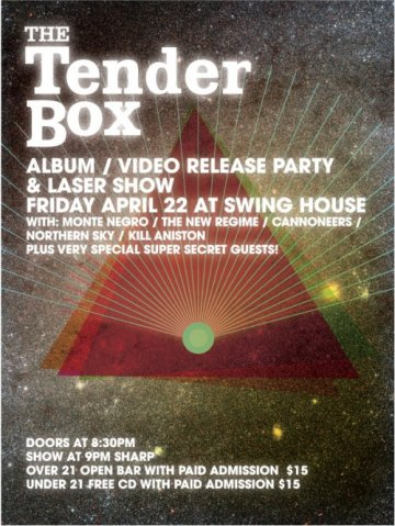 The Tender Box Cd And Video Release Party Monte Negro Kill Aniston Swinghouse - rock en espa�ol - rockeros.net