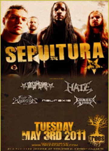 Sepultura Belphegor Hate Keep Of Kalessin Trees Dallas Texas - rock en espa�ol - rockeros.net
