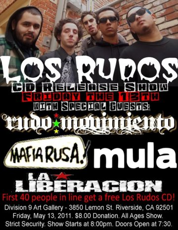Los Rudos Cd Release Party Rudo Movimiento Division 9 Art Gallery Riverside Ca - rock en espa�ol - rockeros.net