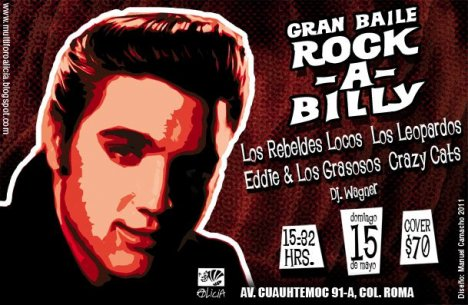 Gran Baile Rock A Billy Los Rebeldes Locos Los Leopardos Foro Alicia Mexico Df - rock en espa�ol - rockeros.net
