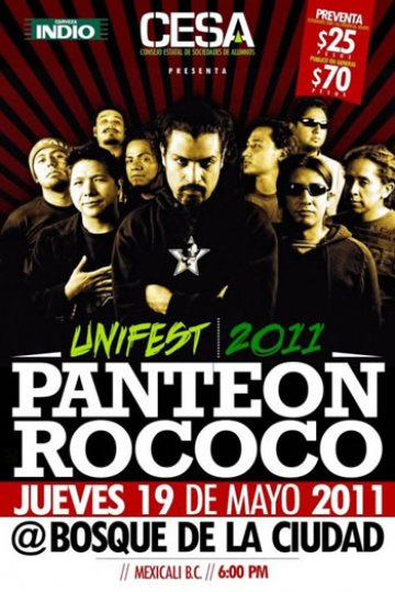 Unifest 2011 Con Panteon Rococo Bosque De La Ciudad Mexicali Bj Mx - rock en espa�ol - rockeros.net