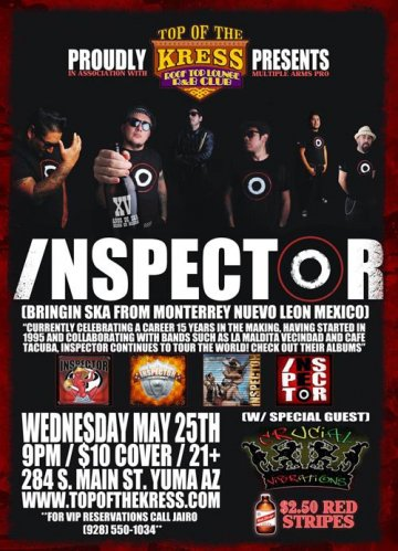 Inspector Y Crucial Vibrations En Top Of The Kress Yuma Arizona - rock en espa�ol - rockeros.net