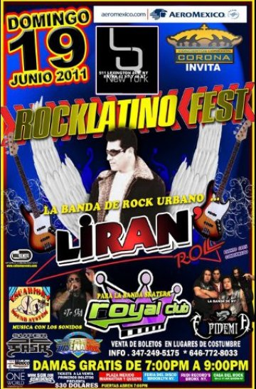 Rock Latino Fest Liran Roll Royal Club Epidemia Lq New York Ny - rock en espa�ol - rockeros.net