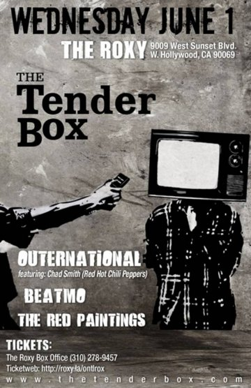 The Tender Box Outernational The Red Paintings The Roxy West Hollywood Ca - rock en espa�ol - rockeros.net