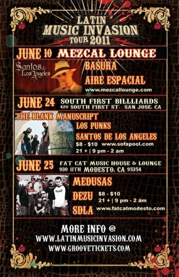 Latin Music Invasion 2011 Medusas Dezu Santos De Los Angeles Fat Cat Modesto Ca - rock en espa�ol - rockeros.net