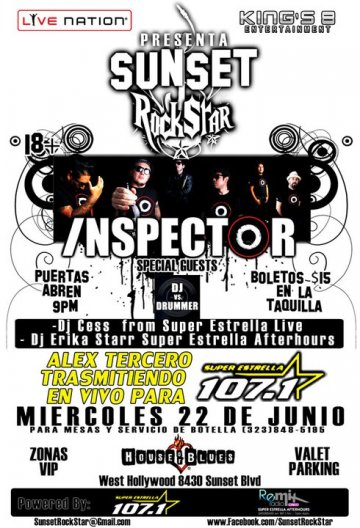 Sunset Rockstar Con Inspector En El House Of Blues Del Sunset Strip - rock en espa�ol - rockeros.net