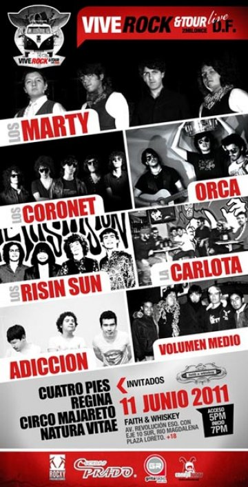Vive Rock Tour Los Marty Los Coronet Orca Faith And Whisky Ciudad De Mexico Df - rock en espa�ol - rockeros.net