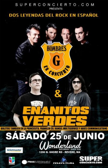 Hombres G Y Enanitos Verdes En El Wonderland Entertainment Complex Boston Ma - rock en espa�ol - rockeros.net