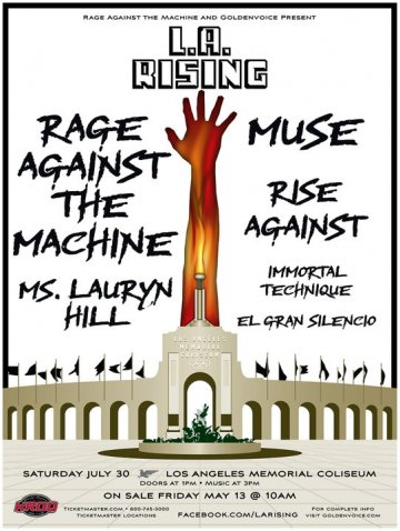 La Rising Rage Against The Machine Muse Ms Lauryn Hill La Memorial Coliseum - rock en espa�ol - rockeros.net