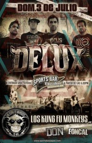 Delux Los Kungfu Monkeys Don Foncal En El Sports Bar Papas N Beer Ensenada Bj - rock en espa�ol - rockeros.net