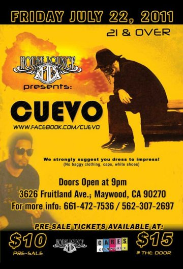 Cuevo En El House Lounge De Maywood California - rock en español - rockeros.net