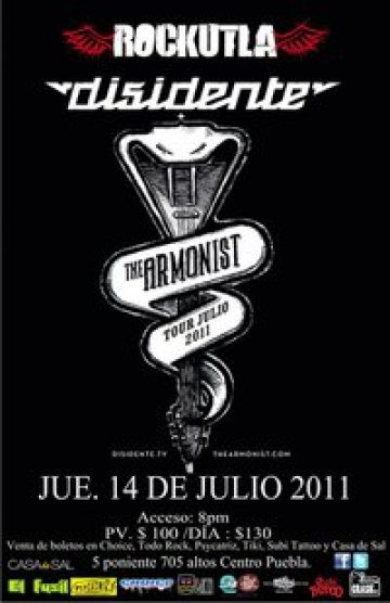 Disidente Y The Armonist En Rockutla Rock House And Bar Puebla Mexico - rock en espa�ol - rockeros.net