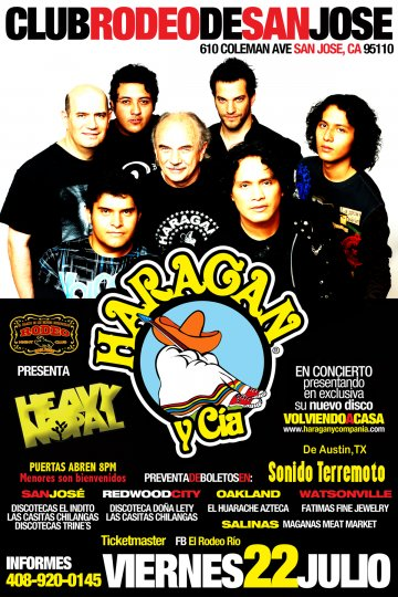 El Haragan Y Compa�ia Y Heavy Nopal En El Club Rodeo De San Jose California - rock en espa�ol - rockeros.net