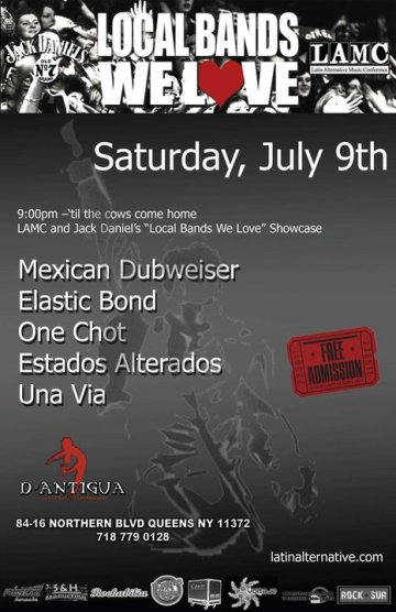 Lamc Showcase Local Bands We Love Mexican Dubwiser Elastic Bond D Antigua Queens - rock en espa�ol - rockeros.net