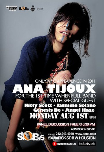 Ana Tijoux Tour Usa