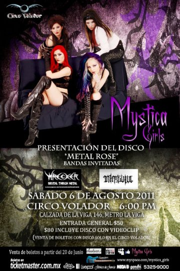 Mystica Girls Presenta Su Album Y Video Metal Rose En El Circo Volador Mexico Df - rock en espa�ol - rockeros.net