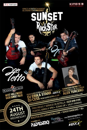 Sunset Rockstar Presenta Don Tetto En El House Of Blues Del Sunset Strip - rock en espa�ol - rockeros.net