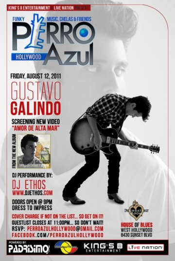 Gustavo Galindo Presenta Su Nuevo Video Amor De Altamar En El House Of Blues - rock en espa�ol - rockeros.net