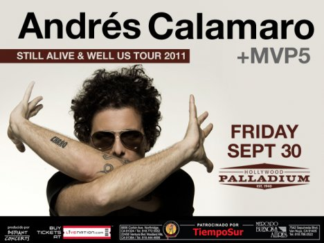Andres Calamaro En El Hollywood Palladium De Los Angeles California - rock en español - rockeros.net