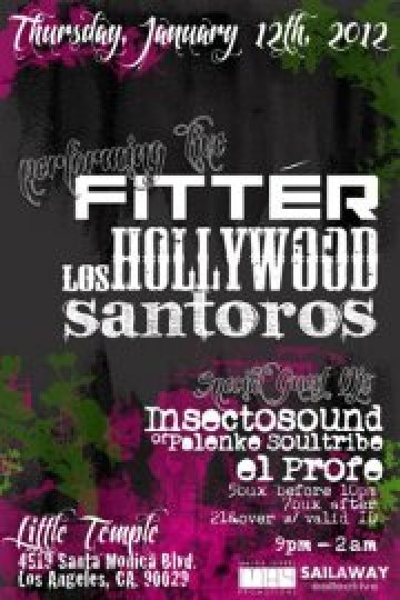 Los Hollywood Fitter Y Santoros En The Little Temple Bar Los Angeles Ca - rock en espa�ol - rockeros.net