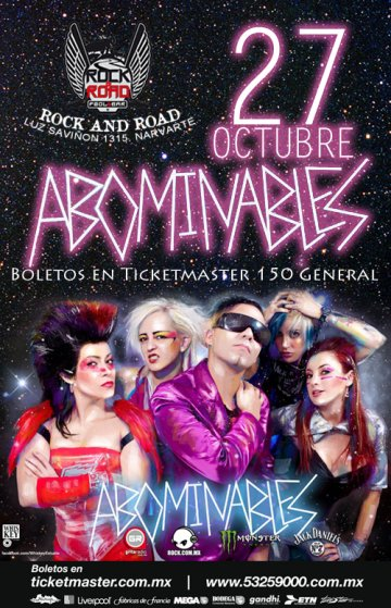 Abominables En El Rock And Road Mexico Df - rock en espa�ol - rockeros.net