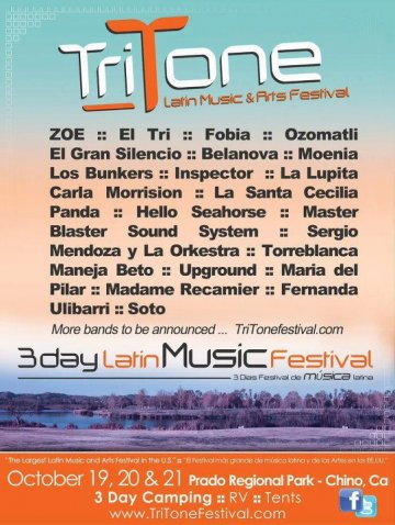 Tritone Latin Music And Arts Festival Octubre 19 20 Y 21 Chino Ca - rock en espa�ol - rockeros.net