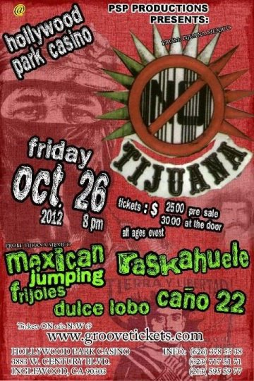 Tijuana No Mexican Jumping Frijoles Raskahuele En Hollywood Park Casino La Ca - rock en espa�ol - rockeros.net