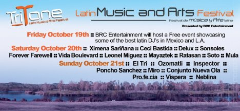 Tritone Latin Music And Arts Festival Octubre 19 20 Y 21 Chino Ca - rock en español - rockeros.net