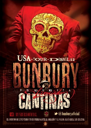 Usa Tour Bunbury 2012 Licenciado Cantinas Los Angeles Ca - rock en español - rockeros.net