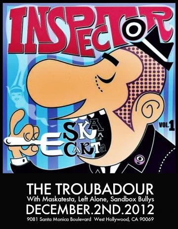 Inspector Cd Release Party Con Maskatesta Left Alone The Troubador Los Angeles - rock en espa�ol - rockeros.net