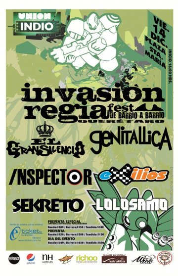 Invasiion Regia Fest - rock en espa�ol - rockeros.net