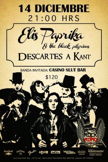 Elis Paprika  The Black Pilgrims Rock  Road Pool Bar D.f - rock en espa�ol - rockeros.net