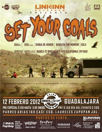 Set Your Goals En Guadalajara - rock en español - rockeros.net