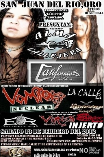 Alma Callejera California Blues Vitros Music Hall San Juan Del Rio Qro - rock en espa�ol - rockeros.net