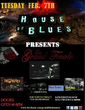 The Grand Finale Ratasan Audiolux Nico Terra En El House Of Blues Sunset Strip - rock en espa�ol - rockeros.net
