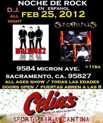 Maleduk2 Sichrius En El Celias Sports Bar And Cantina Sacramento Ca - rock en espa�ol - rockeros.net
