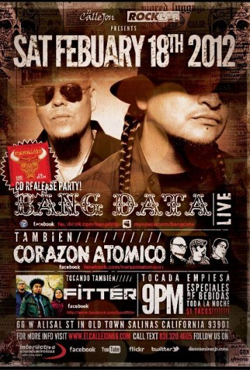 Bang Data Cd Release Party Junto A Corazon Atomico Y Fitter El Callejon Salinas - rock en espa�ol - rockeros.net
