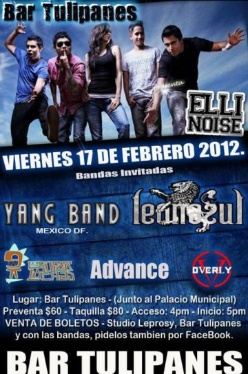Elli Noise Yang Band Leon Azul Advance Bar Tulipanes Tehuacan Puebla Mexico - rock en espa�ol - rockeros.net