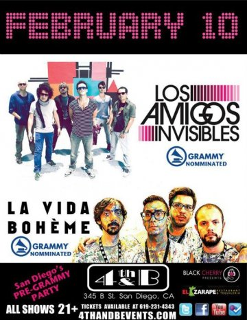 Los Amigos Invisibles Y La Vida Boheme En El 4th And B De San Diego Ca - rock en espa�ol - rockeros.net