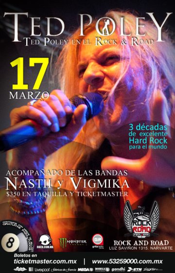 Ted Poley Nastii Y Vigmika En El Rock N Road Pool And Bar En La Ciudad De Mexico - rock en espa�ol - rockeros.net