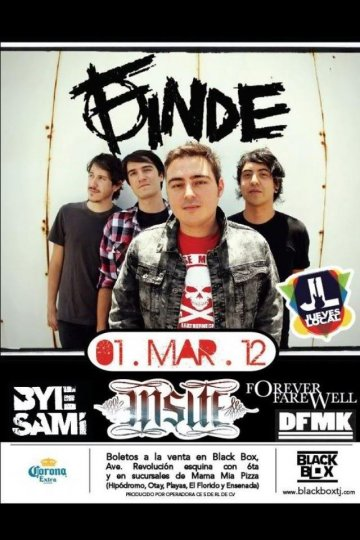 Finde Insite Bye Sami Forever Farewell Y Dfmk En Jueves Local - rock en espa�ol - rockeros.net