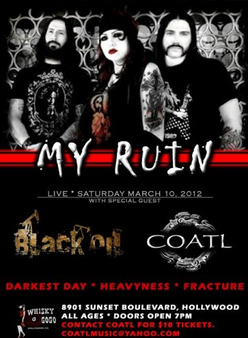 My Ruin Black Oil Coatl Darkest Day Heavyness Whisky A Go Go West Hollywood Ca - rock en espa�ol - rockeros.net